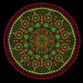 Patrón de encaje ornamentales redondo — Vector de stock