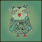 可爱装饰猫头鹰 — 图库矢量图片