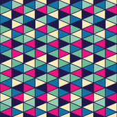 Seamless texture with triangles, mosaic endless pattern — Stock Vector