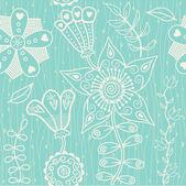 Textura sin fisuras con flores — Vector de stock