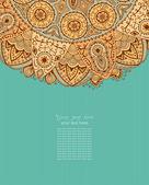 Ornamental lace pattern — Vector de stock