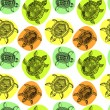 Seamless pattern with turtles — Stok Vektör
