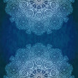 Ornamental lace pattern - Stockvektor