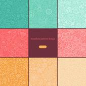 цветочные бесшовные фоны — Cтоковый вектор