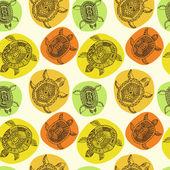 Patrones sin fisuras con tortugas — Vector de stock