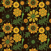 Endless floral pattern — Stock Vector
