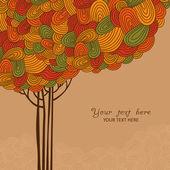 Streszczenie drzewo jesień — Wektor stockowy