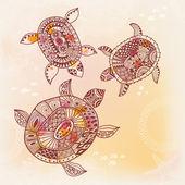 Fundo com tartarugas. — Vetorial Stock
