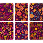 Fashion tablet skins. Modern floral patterns — Stock Vector