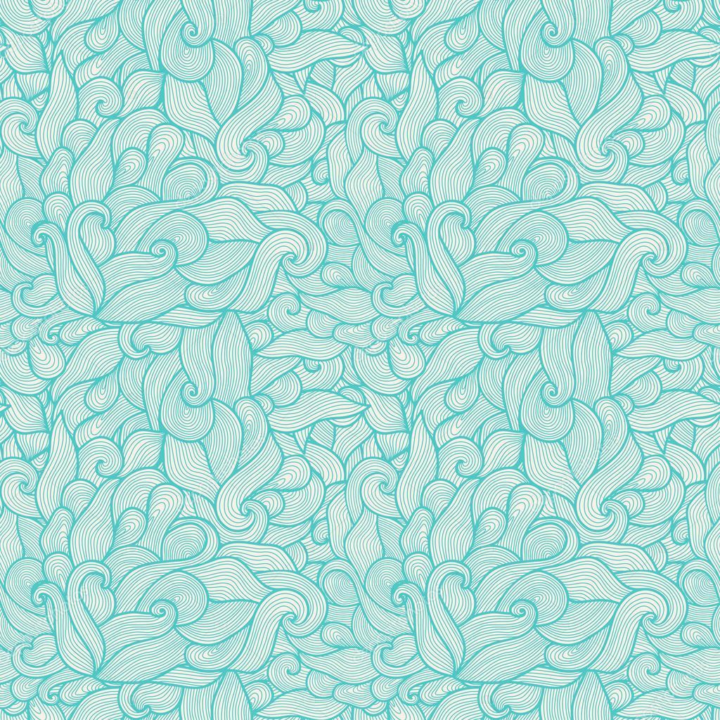 炫彩无缝抽象手绘花纹