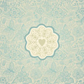 Floral background with vintage label design — Stock Vector