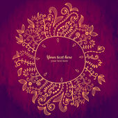 Doodles floral frame — Stock Vector