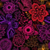 Floral fundo sem emenda do arco-íris. — Vetorial Stock