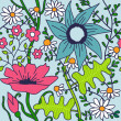 Seamless floral pattern.Endless texture with flowers. — Grafika wektorowa