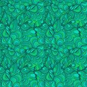 Modèle sans couture abstraite de vagues dessinées à la main, fond ondulé. — Vecteur