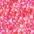 Hearts watercolor seamless pattern — Stock Photo
