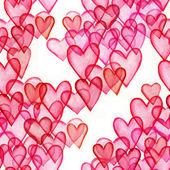 Hearts watercolor seamless pattern — Stock Photo