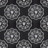 Chalkboard romantic seamless pattern with hearts — Stock Photo