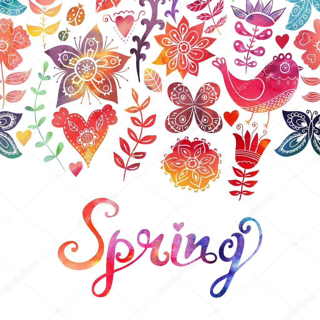 Картинки о весне с написами
