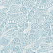 Seamless abstract hand-drawn waves pattern, wavy background. Seamless pattern can be used for wallpaper, pattern fills, web page background,surface textures. Gorgeous seamless floral background — Stock Vector
