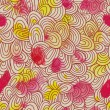 Seamless wave hand-drawn pattern. Watercolor vector seamless pattern. — Vettoriali Stock