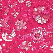 水彩画の花のグリーティング カード。花飾りカード、ノートブックのカバーを設計するには、上のビンテージ レトロな背景。春のテーマの背景. — ストックベクタ