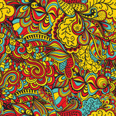 Naadloze abstracte handgetekende golven patroon, golvende achtergrond. dat vierkante ontwerp heeft de mogelijkheid om te worden herhaald of betegeld zonder zichtbare naden. — Stockvector