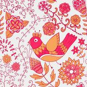 Aquarell blumen grußkarte. vintage retro hintergrund mit floral ornament, das sie auf karten, notebook-cover und so entwerfen können. frühjahr thema hintergrund. — Stockvektor