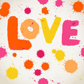Padrão sem emenda de tinta spray vector aquarela com cartas de amor. — Vetorial Stock