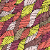Seamless abstract hand-drawn pattern, waves background.(seamles sly tiling).Can be used for wallpaper, pattern fills, web page background,surface textures. Gorgeous seamless floral background — Stock Vector