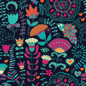 Vector floral background. Vintage retro background with floral ornament. — Stok Vektör