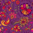 Romantic doodle floral texture. Copy that square to the side and — Stock Vector