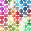 Retro pattern of geometric shapes. Colorful mosaic banner. Geome — Stock Vector