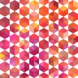 Retro pattern of geometric shapes. Colorful mosaic banner. Geome — ベクター素材ストック