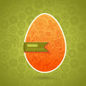 Easter egg made of flowers, floral Easter egg background — Stock Vector