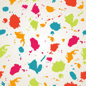 Watercolor paint stains seamless pattern.Copy square to the side and you'll get seamlessly tiling pattern which gives the resulting image ability to be repeated or tiled without visible seams. — Stock Vector