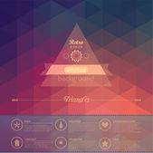 Triangle seamless background. Retro label design. Infographics c — Stock Vector