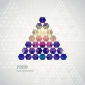 Fondo triángulo triángulo, ilustración vectorial con mucho espacio para su texto — Vector de stock