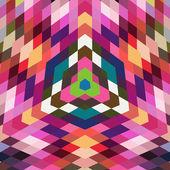 Vector retro como telón de fondo las formas geométricas. colorido mosaico banne — Vector de stock