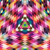 复古矢量背景下的几何形状。多彩马赛克锦旗 — 图库矢量图片