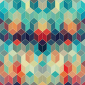 Seamless geometric pattern with geometric shapes, rhombus, color — Stock Vector