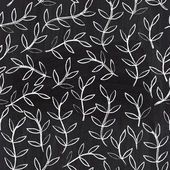 Chalkboard seamless leaf pattern. Copy that square to the side,you'll get seamlessly tiling pattern which gives the resulting image the ability to be repeated or tiled without visible seams. — Stock Photo