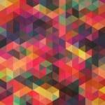 ������, ������: Retro pattern of geometric shapes