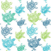 Seamless pattern with turtles. Seamless pattern can be used for wallpaper, pattern fills, web page background,surface textures. Seamless animal background — Wektor stockowy