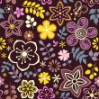 Seamless texture with flowers, birds and butterflies. Seamless pattern can be used for wallpaper, pattern fills, web page background,surface textures. Gorgeous seamless floral background — Stock Vector #26993573