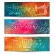 Stock Vector: Grunge vector banner. Abstract header vector background. Triangl