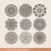 Vector indio ornamento, patrón floral caleidoscópica, mandala. s — Vector de stock