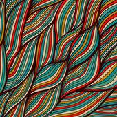 Vector hand-drawn waves texture, wavy background. Backdrop templ — Stock Vector
