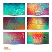 Grunge vector banner. Abstract header vector background set. Tri — Wektor stockowy