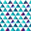 Watercolor triangles seamless pattern. Modern hipster seamless p — Stock Photo #29832211
